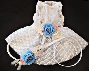 Wedding dog dress | Flower Dog Dress | White wedding | The Cinderella | fairytale wedding | dog dress XS-XXXL