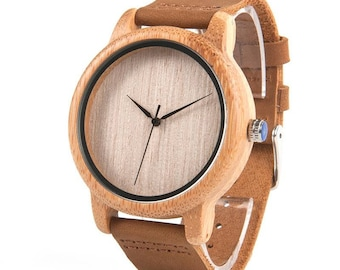 Wooden watch, quartz watch,unisex watch in light natural wood