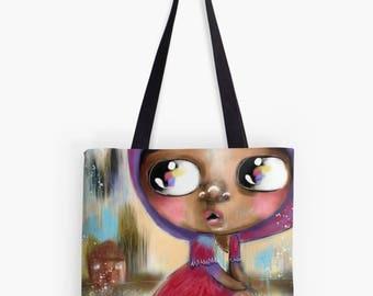 Fabric Shoulder - Handbag - Women's bag - Tote Bag - Bag  for life - Art Bag - Artwork Designed by Beatrice Ajayi