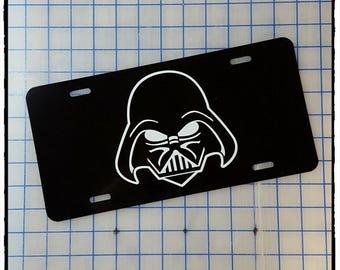 Vader License Plate Etsy