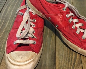 SUMMER SALE 20% OFF Vintage Women's Red Lady All Star Converse Shoes Size 6