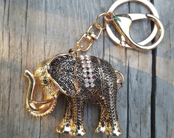 Elephant key chain-Tassel key fob