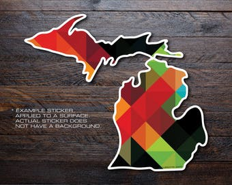 Michigan Mitten Vinyl Decal Sticker A1
