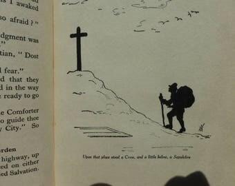 Pilgrim's Progress by John Bunyan 1924 silhouetted illus Harriet Savage Smith