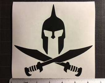 Molon Labe Fierce Spartan Swords Decal Sticker Come and Take FREE SHIPPING