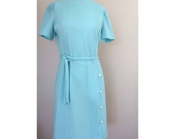 Vintage Joan Curtis Baby Blue Dress