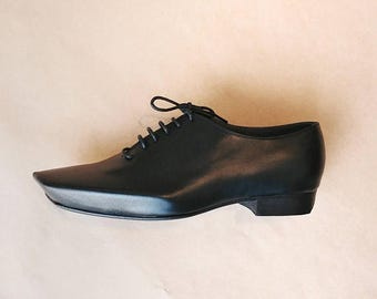 ON SALE Mens Oxford Shoes - Flat Shoes - Mens Leather Shoes - Mens Shoes - Unique Angular Calf Leather ARAMA Oxford shoes