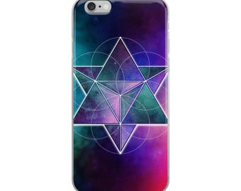 iPhone 5/5s/Se, 6/6s, 6/6s Plus Case - Space Geometry Purple Triangles 1 iPhone Case