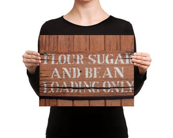 Canvas - Red Silo Original Art - Flour Sugar & Bean