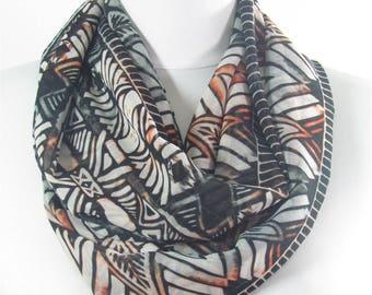 Tribal Scarf Shawl Boho Scarf Native Circle Scarf Bohemian Women Fashion Accessories Aztec Scarf Gift for Women 83
