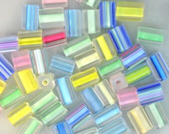 Furnace Glass Beads, Soft Pastels Medium size mix by Virginia Wilson Toccalino, 1 oz
