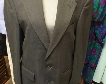 Vintage mens grey suit coat