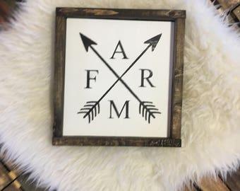 Farm Sign / Farm Decor / Wood Sign / Farmhouse Decor