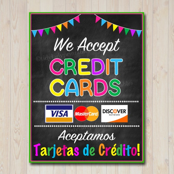 Impertinent image in we accept credit cards printable sign