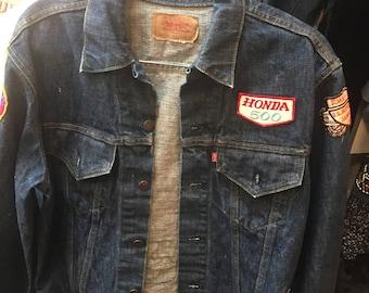 VINTAGE JEAN Motorcycle jacket