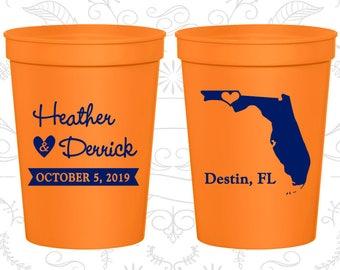 Orange Stadium Cups, Orange Cups, Orange Party Cups, Orange Wedding Cups (108)