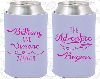 Periwinkle Blue Wedding, Perwinkle Blue Can Coolers, Periwinkle Blue Wedding Favors, Periwinkle Blue Party Decor (294)