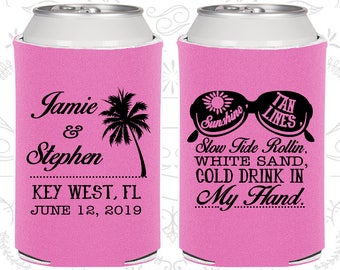 Orchid Wedding, Orchid Can Coolers, Orchid Wedding Favors, Orchid Wedding Gift, Orchid Party Gift (451)