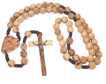 """Olive Wood Wall Rosary (100 cm or 39"""")"""