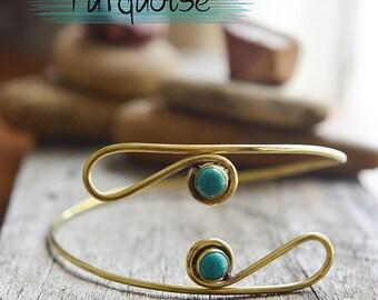 Gemstone Arm Bracelet, Handmade Arm Cuff, Upper Arm Bracelet, Brass Armlet, Nickel free Arm Band