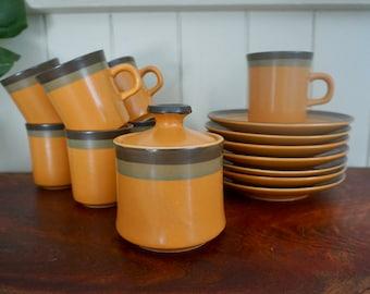 Arrow Stone coffee service , Cherokee stoneware
