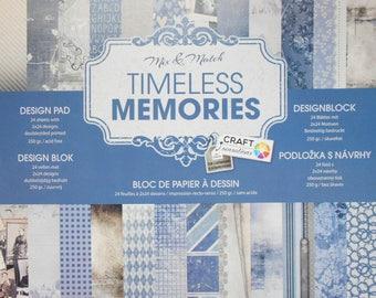 "Set of 12 leaves duplex 30, 5 x 30, 5 cm ""Timeless Memories"" Scrapbook"