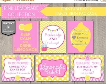 SALE INSTANT DOWNLOAD Printable Pink Lemonade Party 8x10 Sign Package / Diy Printables / Pink Lemonade Package / Item #401