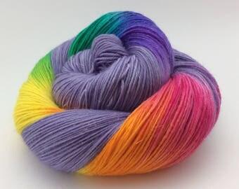Sparkle Rainbow Sock Yarn