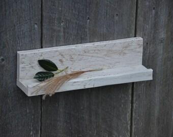 Art Display Ledge Shelf, Reclaimed White Oak