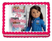 American Girl Luciana 2018 party edible cake image cake topper frosting sheet