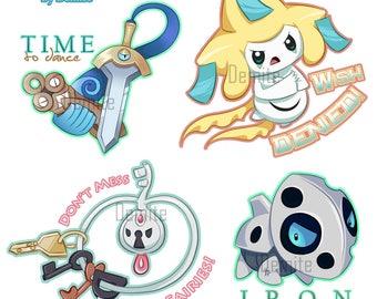 P'd off Pokemon - Steel Types Sticker Sheet