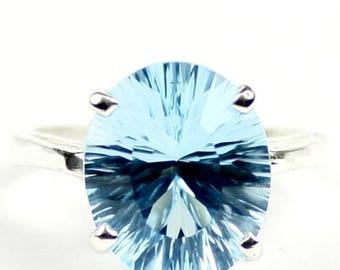 On Sale, 30% Off, Swiss Blue Topaz, 925 Sterling Silver Ladies Ring, SR055