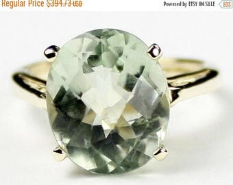 On Sale, 30% Off, Green Amethyst Prasiolite, 10Ky Gold Ring, R055