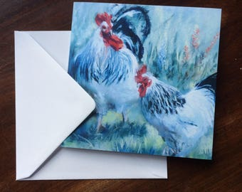 Little & Large. Greetings card from an original pastel painting