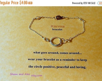 SALE Good Karma Silver Bracelet