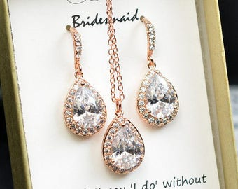 Rose Gold Bridal Earrings Wedding Jewelry Crystal Bridal Earrings Drop Earrings Bridesmaid Gift Rose Gold Earrings Bridal Jewelry N1