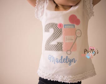 Girls Bubbles Birthday outfit -- Bubbles birthday outfit -- Shirt  -- Summer Birthday shirt -- Birthday bubbles shirt