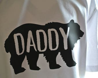 Plus Size Daddy Bear Tee, Birth Announcement Tee, Father's Day Gift
