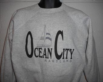 Vintage 80s 90s Ocean City Maryland Sweatshirt Fits Medium