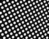 Black & White Polka Dot Print Retro Pinup Spandex Fabric Fashion Beauty 50's Cutesy Classic Old-Fashioned Classic Sexy Spot (By the Yard)