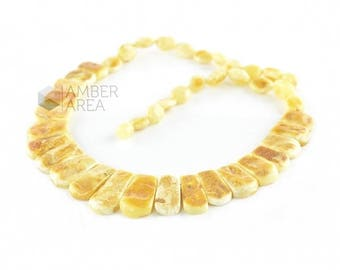 Amber Necklace, Collier Amber Necklace, Baltic Amber, Baltic Amber Necklace, Natural Amber, Butter Amber Color, 2070
