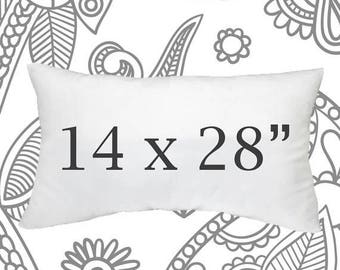 sale ends soon 14 x 28 inch pillow forms faux down lumbar pillows throw