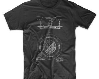 Carousel 1891 Patent T Shirt, Merry Go Round, Circus Shirt, Coney Island, Amusement Park,  PP0351