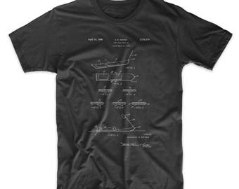 First Modern Snowboard Patent T Shirt, Snowboarding, Ski Lodge Shirt, Winter T Shirt, PP0508