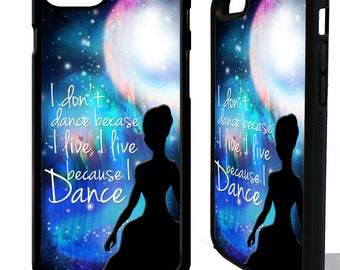 Dance quote dancing phrase in the moonlight ballet dancer graphic rubber phone case cover for iphone 4 5 5s 6 6s 7 8 8 plus X
