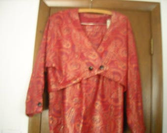 CARLOS FALCHI Leather SUIT Size 10
