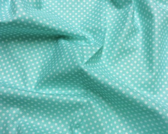 Timeless Treasures Tweet C8889 Aqua with White spot Patchwork Quilting Fabric