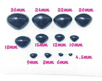 Plastic Safety Nose screw Noses Black - 5 Pieces, many size,4.5mm, 6mm, 9mm, 10mm, 12mm,15mm 18mm 20mm 22mm 24mm 26mm