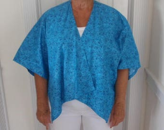 shades of aqua blue cape with a hint of sparkle