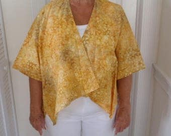 shades of yellow and goldenrod cape
